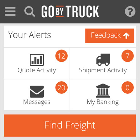 Go By Truck Mobile project screenshot
