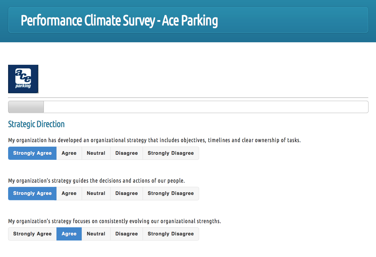 Performance pH Climate Surveys project screenshot
